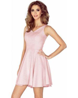 Różowa sukienka z wiskozy oversize Morimia