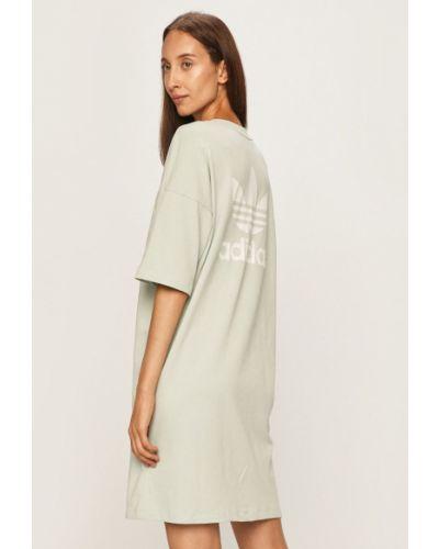 Свободное платье мини мятное свободного кроя с вырезом Adidas Originals