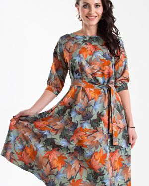 Платье с поясом платье-сарафан зеленый Taiga