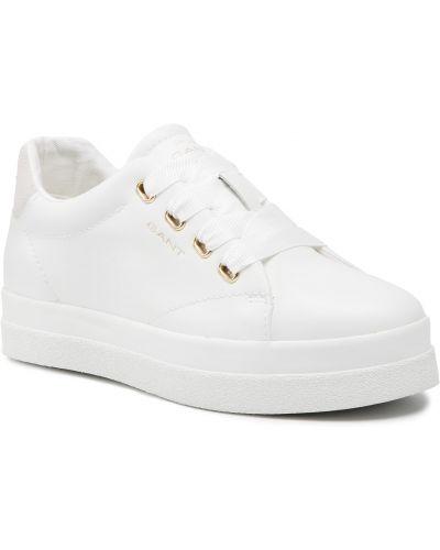 Białe półbuty skórzane casual Gant