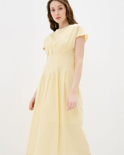 Прямое желтое платье Zarina