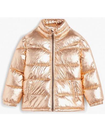 Куртка золотая Mango Kids