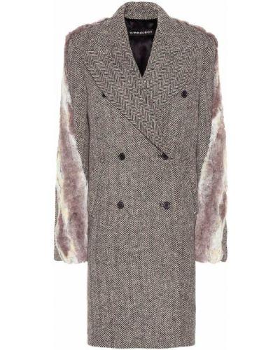 Шерстяное пальто с опушкой Y/project