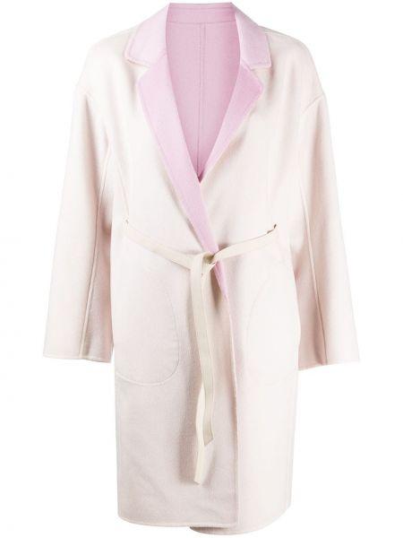 Шерстяное полупальто - розовое Max & Moi