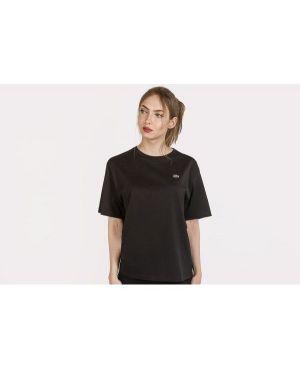 T-shirt bawełniana - czarna Lacoste