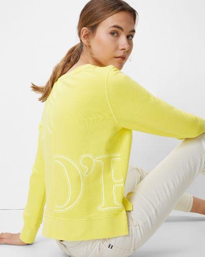 Хлопковая желтая толстовка с разрезами по бокам винтажная Marc O' Polo