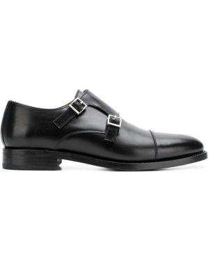 Кожаные туфли черные с пряжкой Berwick Shoes