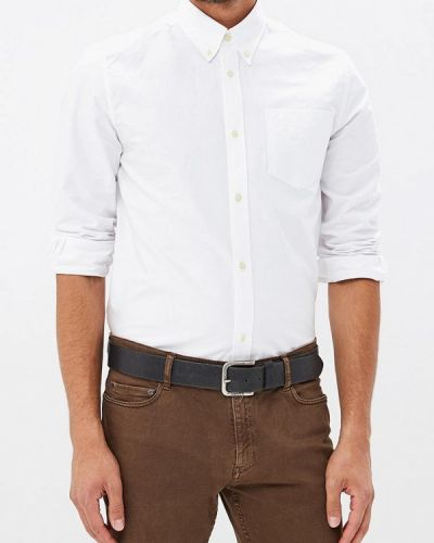 Белая рубашка с длинным рукавом Fred Perry