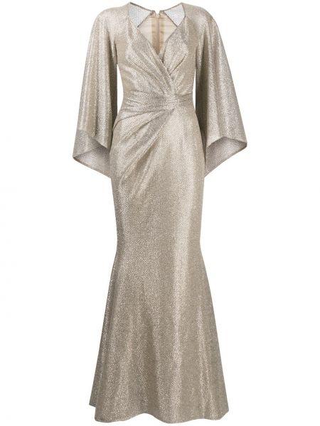 Платье макси длинное - желтое Talbot Runhof