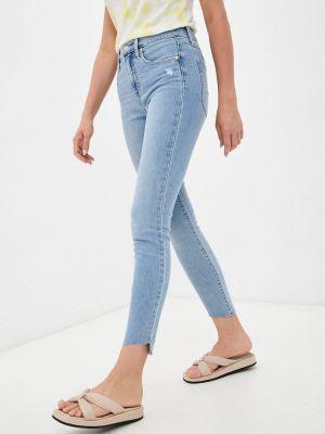 Голубые зауженные джинсы Gap