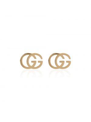 Żółte złote kolczyki sztyfty vintage Gucci