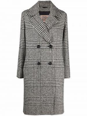 Черное прямое пальто Cinzia Rocca