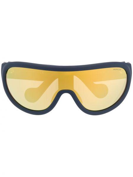 Муслиновые спортивные солнцезащитные очки круглые Moncler Eyewear