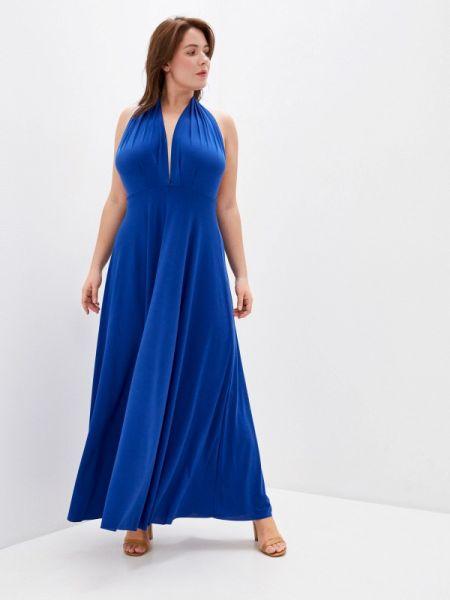 Синее вечернее платье Over