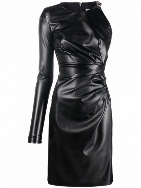 Платье на одно плечо - черное Just Cavalli