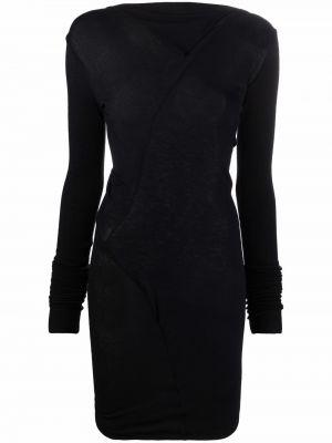 Шерстяное платье макси - черное Rick Owens Lilies