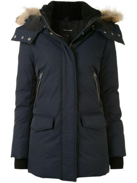 С рукавами пальто с капюшоном на молнии айвори из искусственного меха Mackage