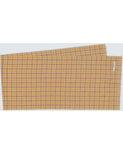 Желтый шерстяной шарф Acne Studios