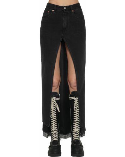 Джинсовая юбка с завышенной талией с карманами Mm6 Maison Margiela