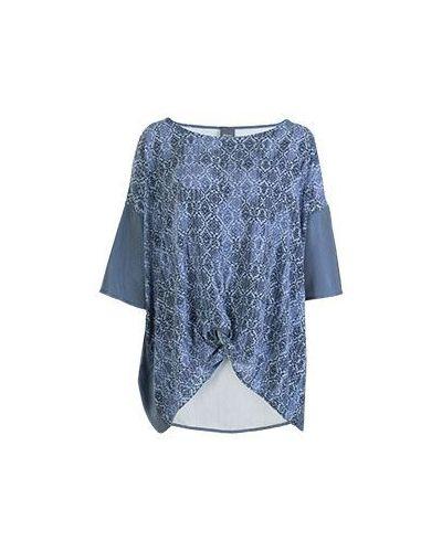 Синяя блузка повседневная Persona By Marina Rinaldi