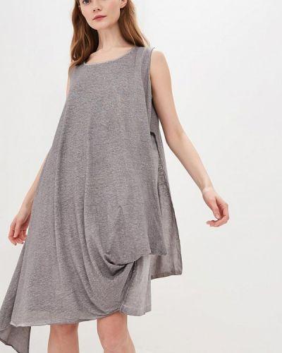 Платье серое платье-майка Hassfashion