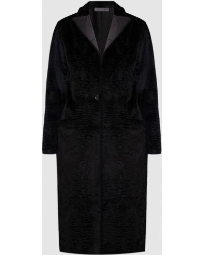 Черное пальто из кролика Simonetta Ravizza