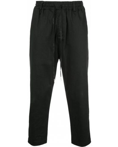 Черные прямые брюки с поясом пэчворк новогодние The Celect