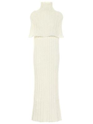 Шелковое белое вечернее платье Jil Sander