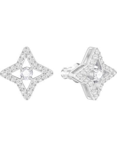 Серьги-гвоздики со стразами металлические Swarovski