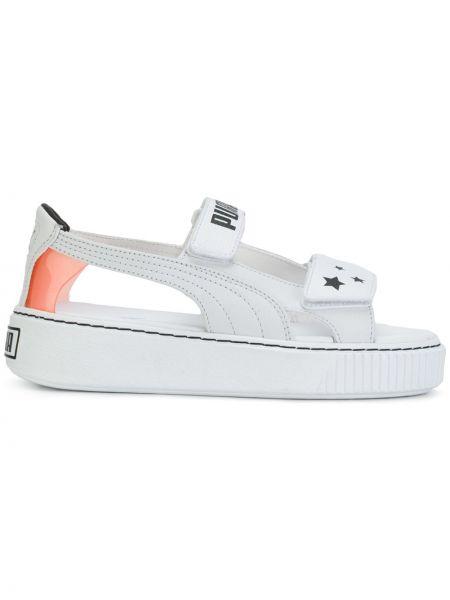 Хлопковые белые кроссовки с открытым носком Puma X Sophia Webster
