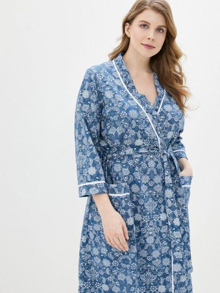 Платье платье-халат синее Lika Dress