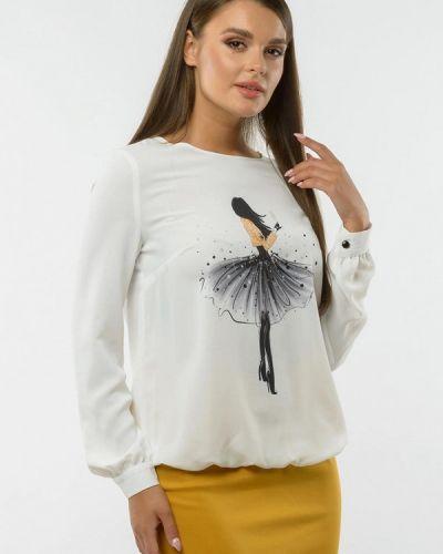 Белая блузка с длинным рукавом с длинными рукавами Remix
