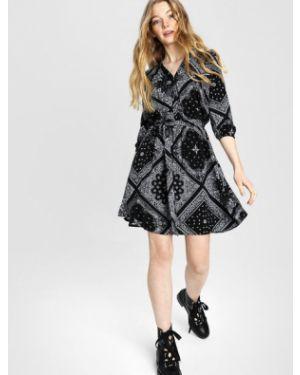 Платье мини на пуговицах с поясом Ostin