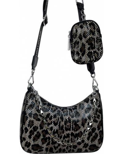 Кожаная сумка через плечо Polina & Eiterou