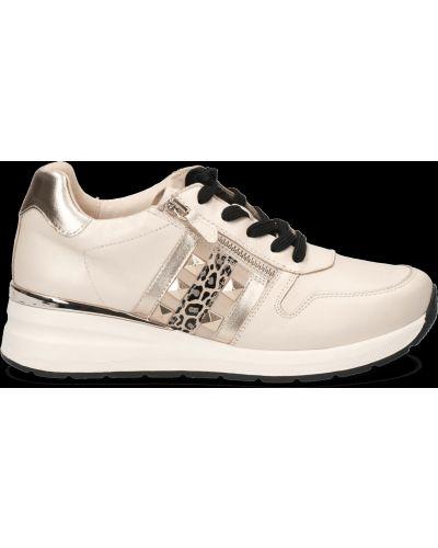 Кожаные кроссовки - бежевые Caprice