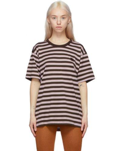 Классическая рубашка в полоску с воротником с вышивкой Acne Studios