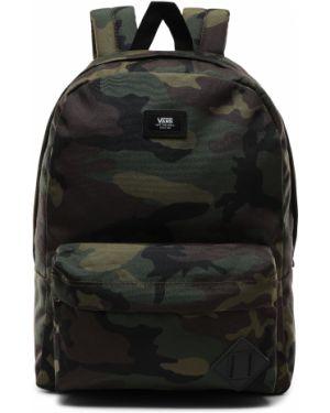 Рюкзак для ноутбука хаки с карманами на молнии Vans