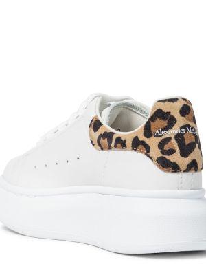 Skórzany biały sneakersy Alexander Mcqueen Kids