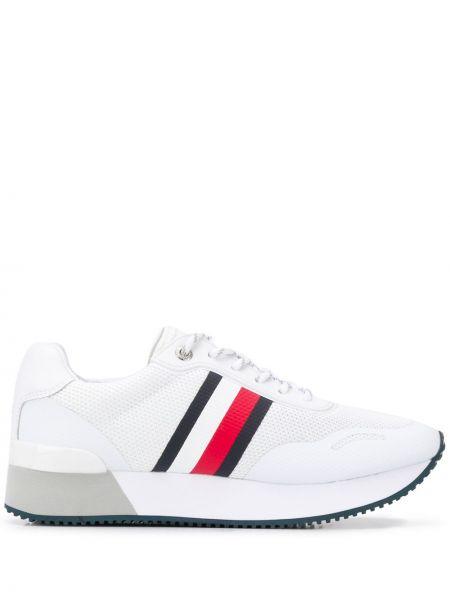Кожаные кроссовки сетчатые с логотипом Tommy Hilfiger