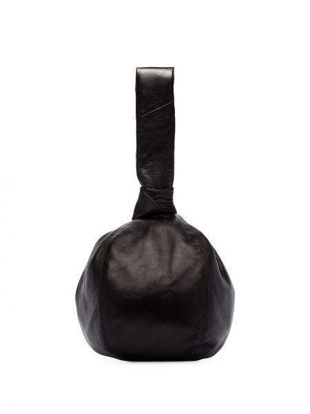Czarny portfel skórzany Lemaire