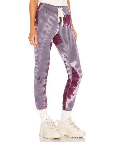 Fioletowe joggery bawełniane Nsf