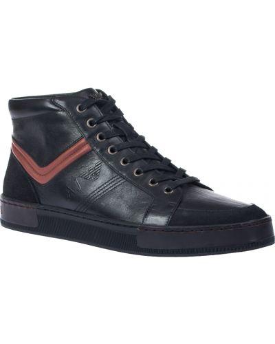 Черные кеды замшевые Armani Jeans