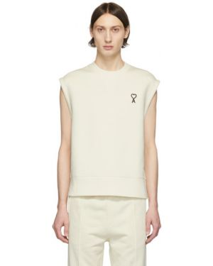 Bluza na szyi biały Ami Alexandre Mattiussi
