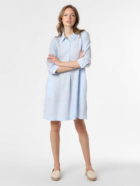 Niebieska lniana sukienka Someday