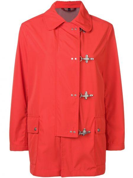 Куртка с карманами красная Fay