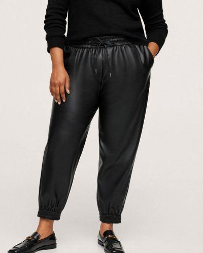 Черные брюки осенние Violeta By Mango