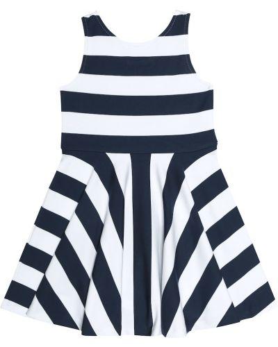 Платье в полоску из вискозы Polo Ralph Lauren Kids