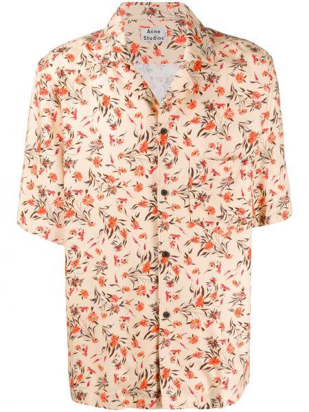 Koszula krótkie z krótkim rękawem lato prosto Acne Studios