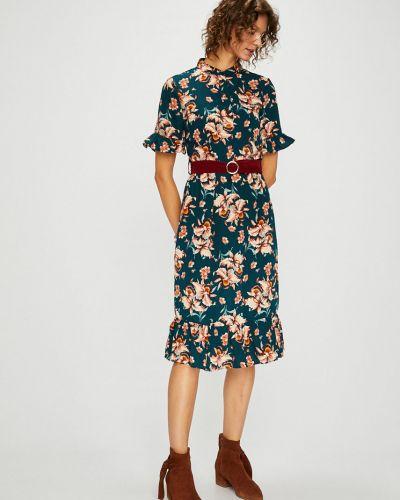 Платье миди с поясом на пуговицах Vila