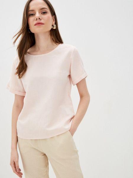 Блузка с коротким рукавом розовая весенний Incity